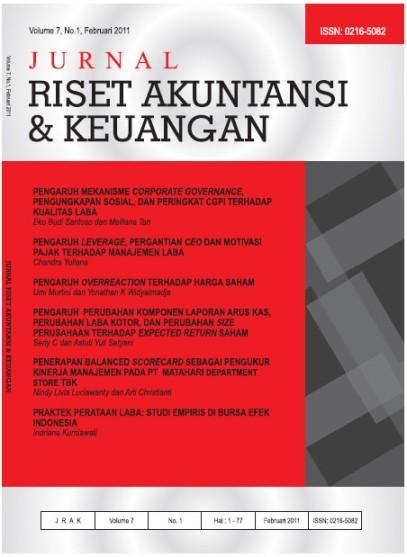 Jurnal Riset Akuntansi dan Keuangan Vol 7, No 1, Feb 2011