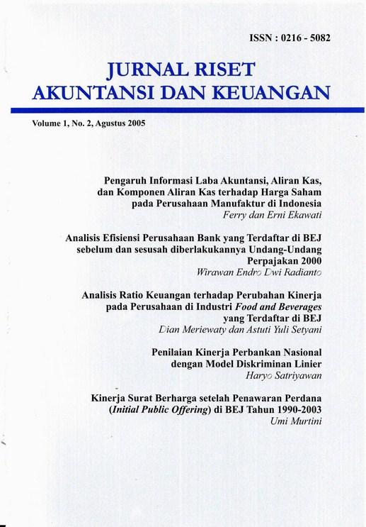JRAK Vol 1 No 2, 2005