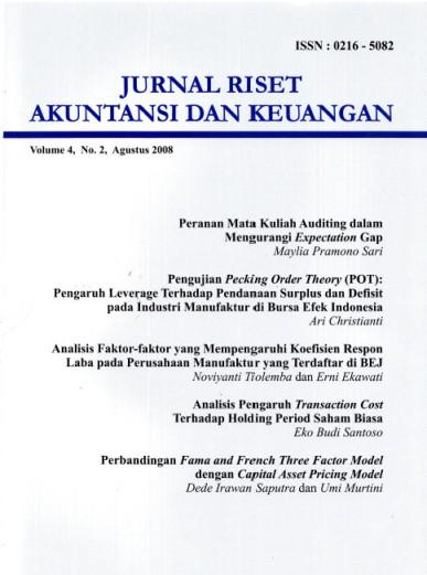 Jurnal Riset Akuntansi dan Keuangan Vol 4 No 2 2008