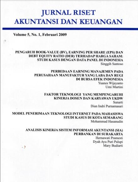 Jurnal Riset Akuntansi dan Keuangan Vol 5 No 1 2009