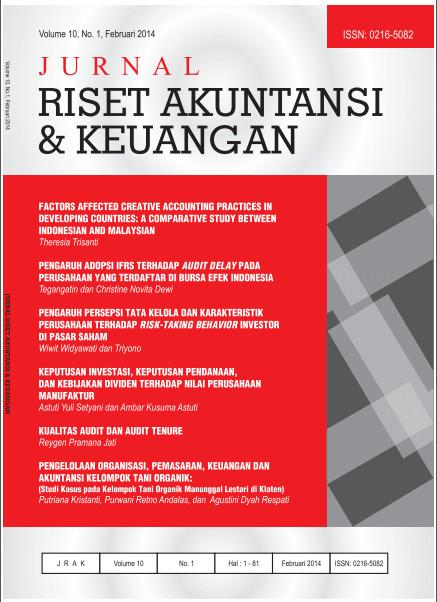 Jurnal Riset Akuntansi dan Keuangan Vol 10 No 1 2014