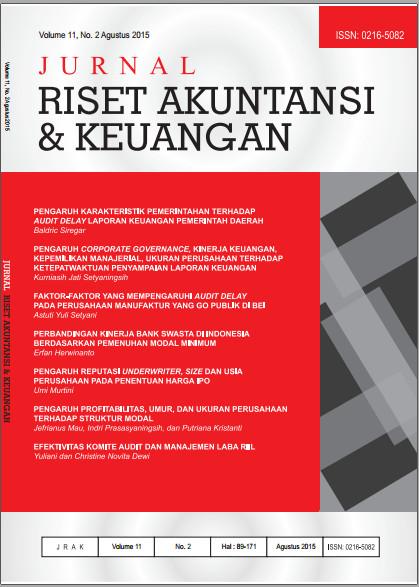 Jurnal Riset Akuntansi dan Keuangan Vol 11, No. 2, 2015