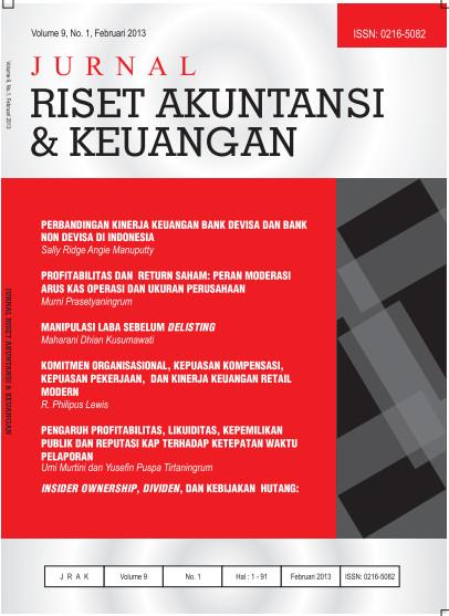 Jurnal Riset Akuntansi dan Keuangan Vol 9 No 1 2013