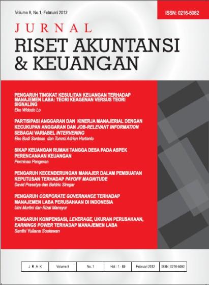 Jurnal Riset Akuntansi dan Keuangan Vol 8, no 1, 2012